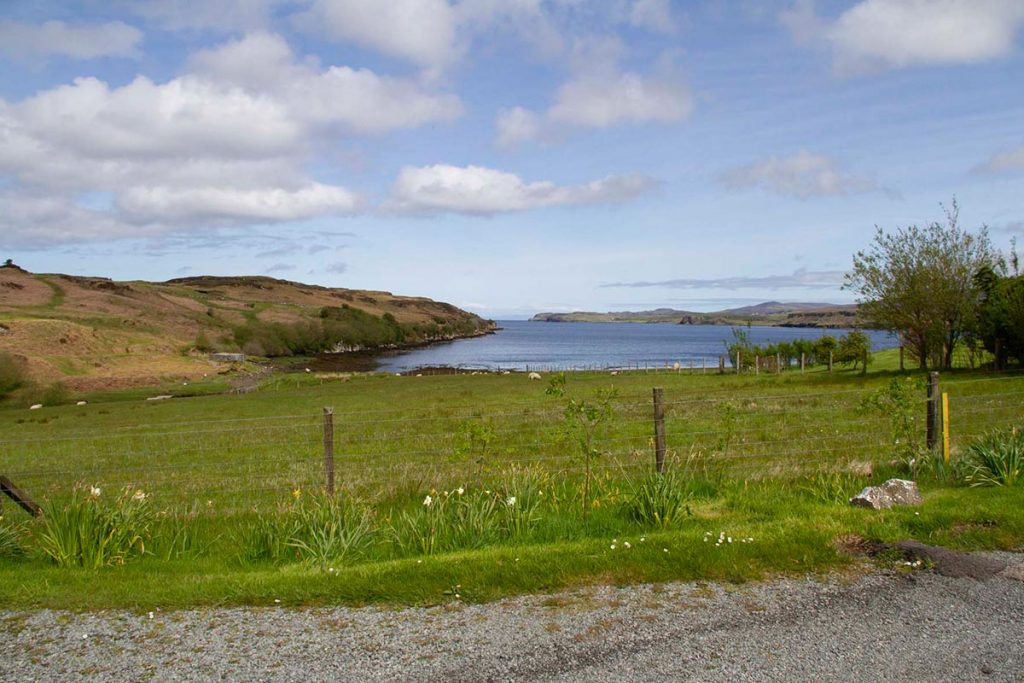 Knott Cottage self catering, Isle of Skye, location, view