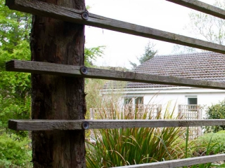 Knott Cottage self catering, Isle of Skye, garden fence