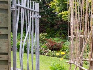 Knott Cottage self catering, Isle of Skye, garden, open gate