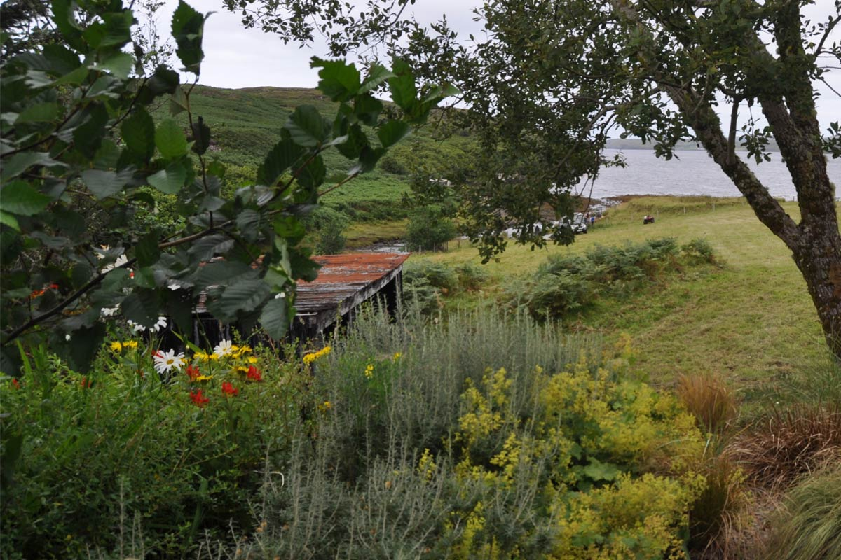 Knott Cottage self catering, Isle of Skye, trees, view